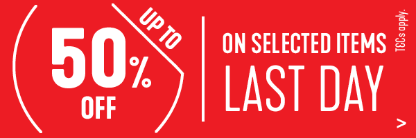 Up to 50% off Selected Items