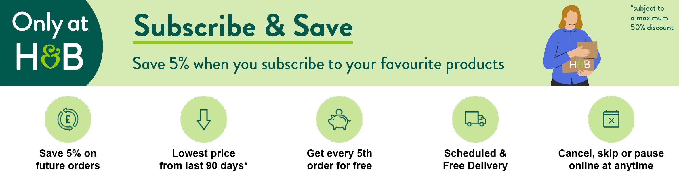 Subscribe & Save Favourites