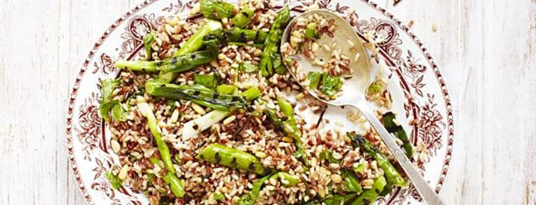Asparagus and wild rice salad