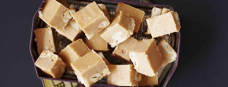 Salted peanut fudge