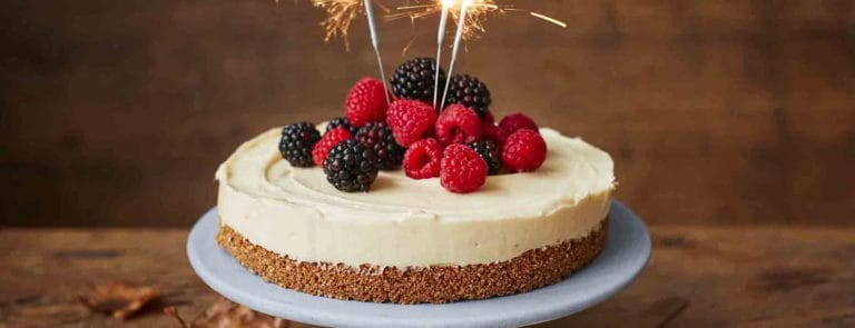 Bonfire Night gluten-free maple cheesecake