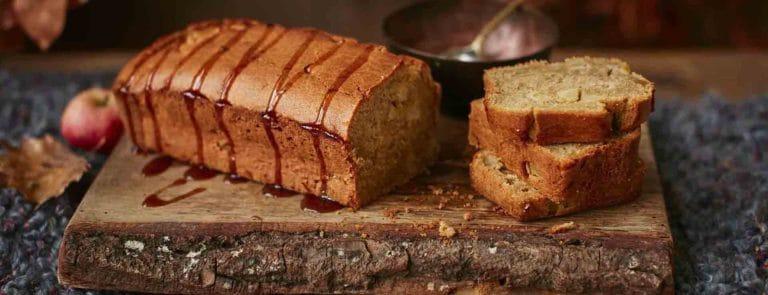 Ginger Loaf Cake with Coconut Caramel