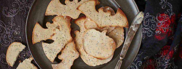 Gluten-free Halloween coconut crackers