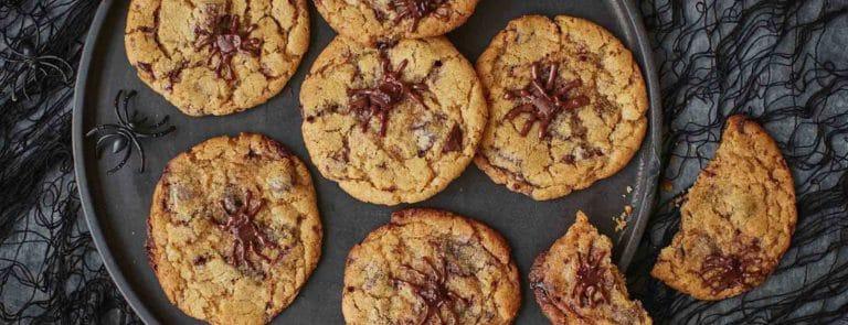Dairy-free Halloween chocolate chip cookies image