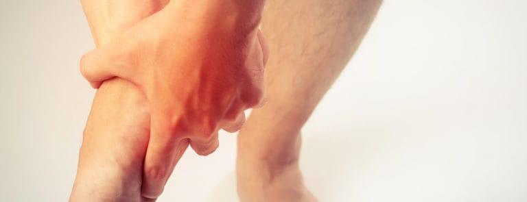 man foot pain