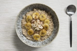 Peanut Butter Porridge with banana