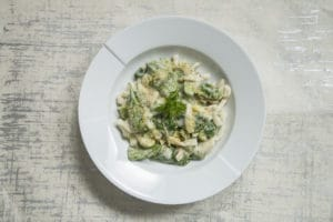 cheesey spinach pasta