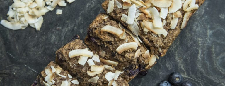 Vegan and Gluten Free Blueberry & Banana Loaf