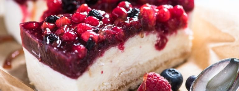 Manuka Honey and Summer Fruits Cheesecake