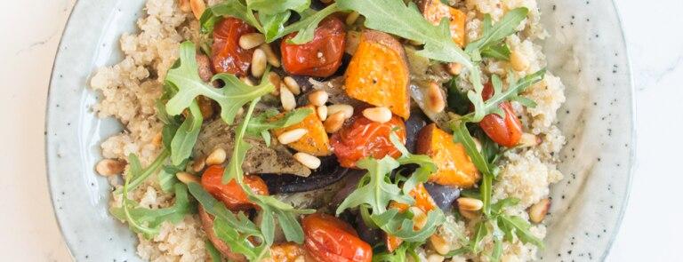 Deliciously Ella quinoa roasted vegetable salad