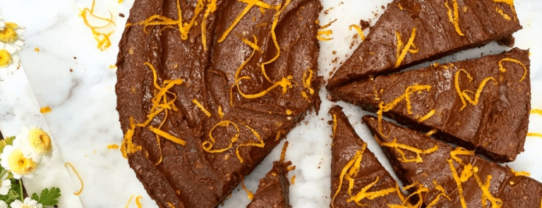 Deliciously Ella chocolate orange tart