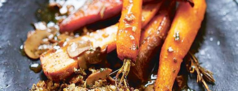 Deliciously Ella maple roasted root veg