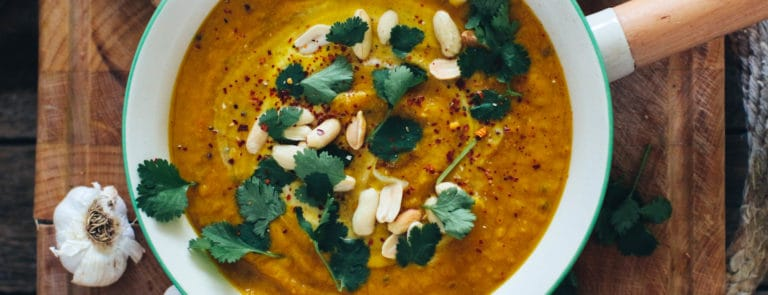 Rebel Recipes spiced sweet potato soup