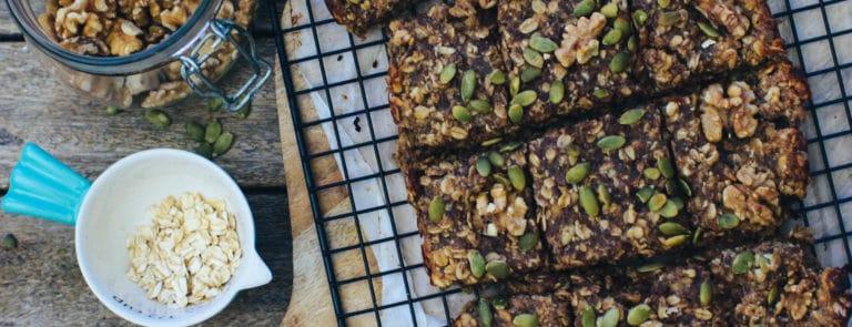 Rebel Recipes banana, date and walnut flapjacks