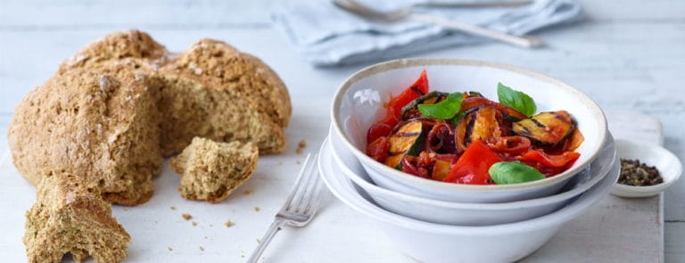 Vegan Comfort Food: Chargrilled Ratatouille with Rosemary Soda Bread image