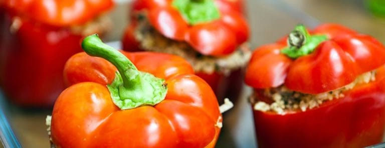 Baked Red Peppers with Quinoa Recipe