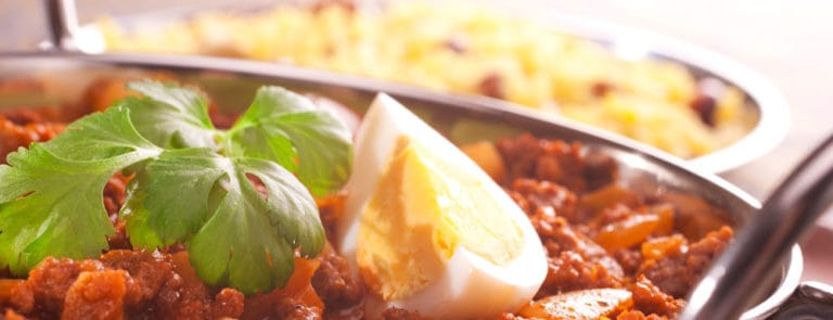 A skin-friendly sweet potato and egg curry image