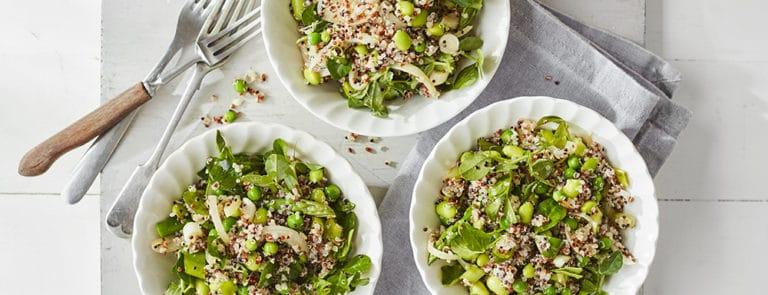 Green Vegetable Quinoa Salad Recipe