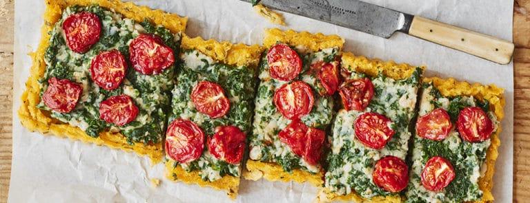 Lazy Weekend Recipes: Rosemary Polenta Tart with Roasted Garlic &... image