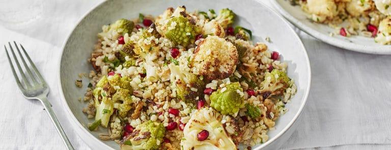 Lazy Weekend Recipes: Cauliflower, Pearl Barley and Bulgur Wheat Salad image