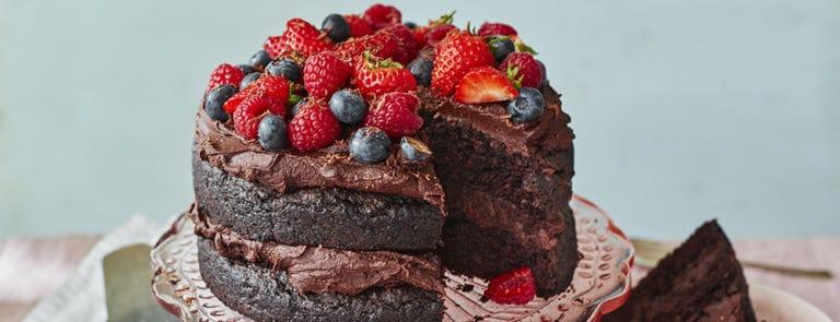 Vegan Chocolate Fudge Decadence Cake Recipe
