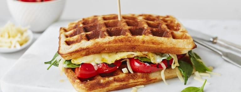Lazy Weekend Recipes: Parmesan Buckwheat Breakfast Waffles image