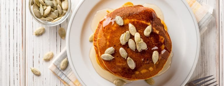 Soy flour pancakes