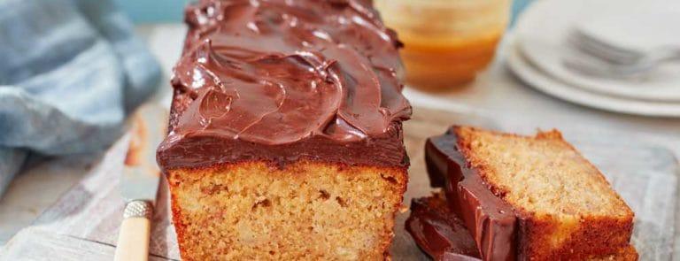 Manuka Honey Banana Loaf Cake with Chocolate Ganache image