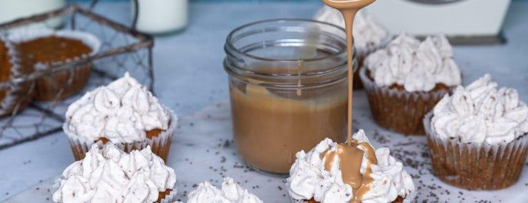 Caramel & Chia Seed Cupcakes