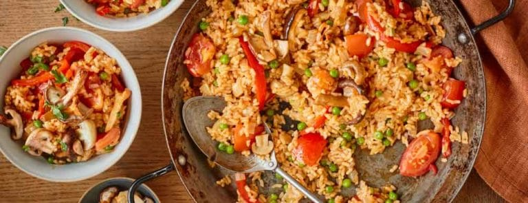 One Pot Dishes: Vegan Paella with Mixed Mushrooms image