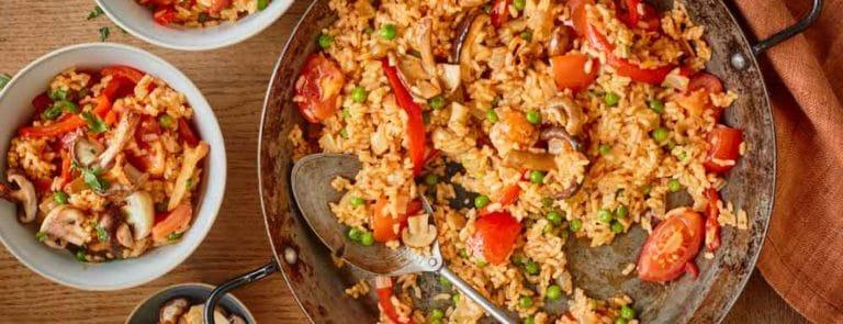 Vegan Paella with Mixed Mushrooms Recipe