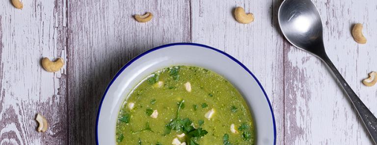 Broccoli, Spinach & Wheatgrass Soup image