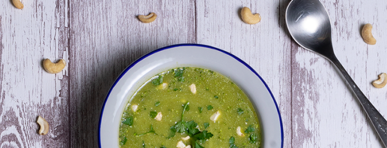 Broccoli, Spinach & Wheatgrass Soup
