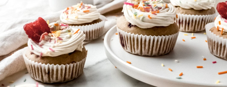 Raspberry & Vanilla Cupcakes