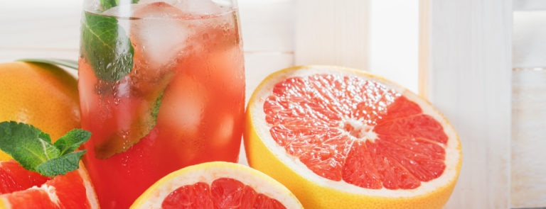 healthy fresh grapefruit juice