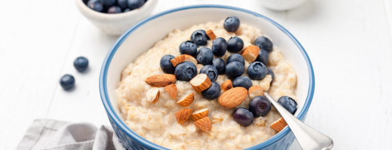 healthy oats blueberries and nuts