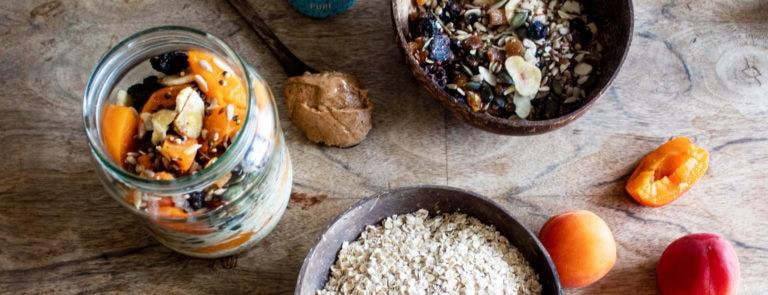 kefir overnight oats ingredients