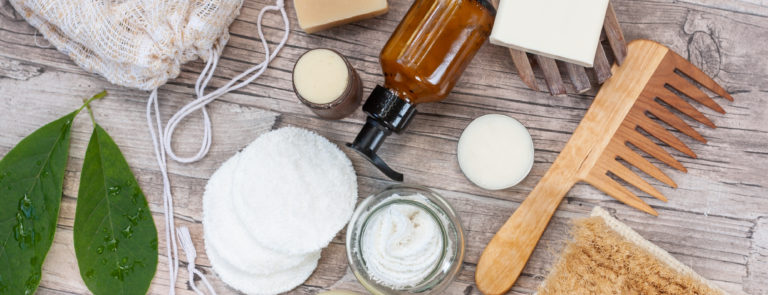 a selection of zero waste beauty products