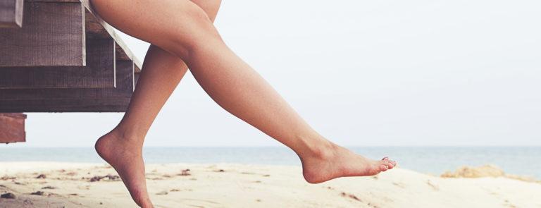 legs on the beach