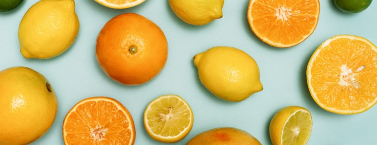 a selection of foods high in vitamin C