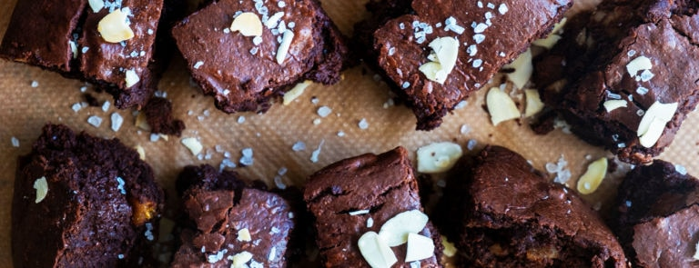 Walnut & Apricot Vegan Brownies image