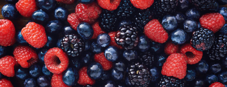 keto friendly fruits; raspberries, blackberries and blueberries