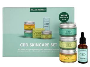 Holland & Barrett, CBD Skincare set.
