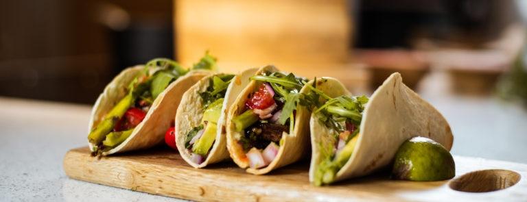 Grilled Asparagus & Shiitake Mushroom Tacos