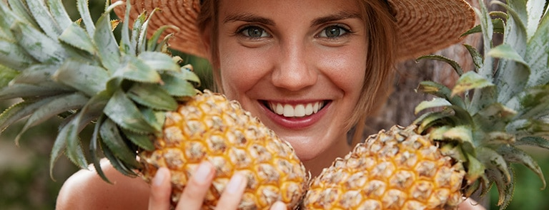 Pineapple benefits for skin image