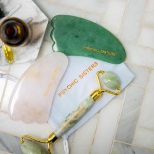 gua sha tool and jade roller