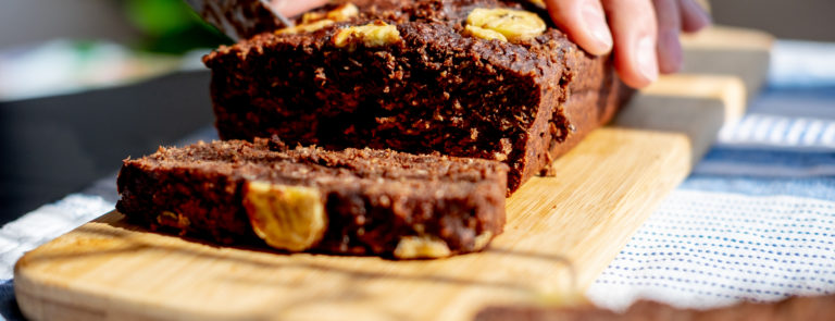 Delicious vegan banana bread brownies