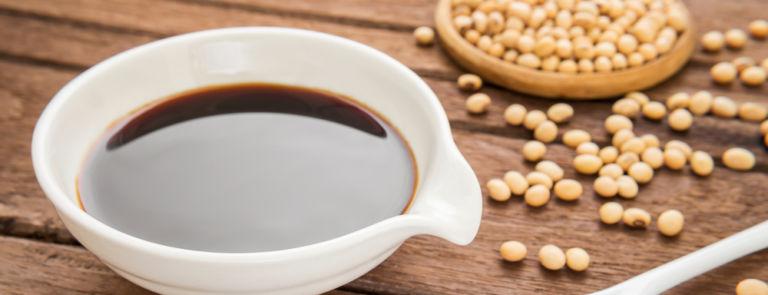 tamari sauce and soy beans