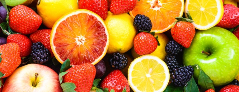 colourful assortment of fresh fruit