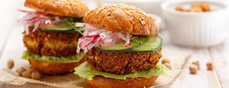 Healthy Vegan Falafel Burger Recipe